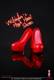 Female Heeled Shoes (Red) 1/6