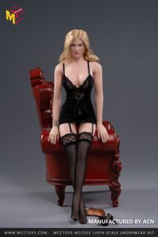 1/6 Female M Size Sexy Lingerie Set (Black)