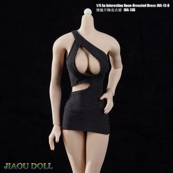 1/6 Female Open-Breasted Dress (Black)