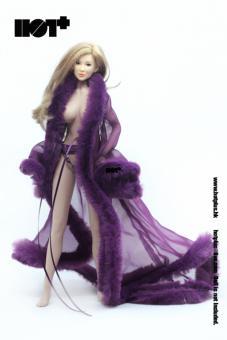 Female Sexy Lingerie Gown Set (Purple)