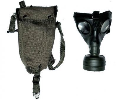 Gasmaske mit abnehmbaren Filter , Gasmaskenbehälter mit Ersatzfach aus Stoff