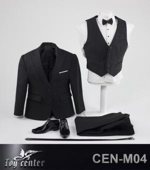 Gentlemen Leisurewear Smoking Suit Set (Black) 1/6