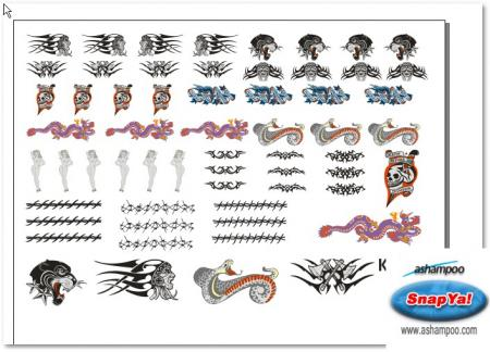 1:6 Tatoos Decals