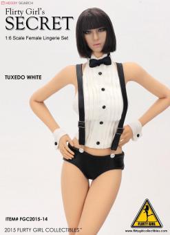 Head + Tuxedo Set - White im Maßstab 1:6