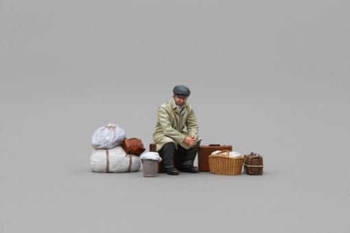 Refugee with Suitcases 1/30