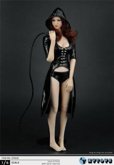 Female Kaputzenlack Dress Set (Black) 1/6