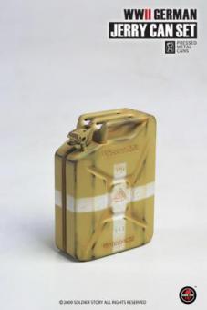 Wasser Kanister METAL, Wehrmacht, Gelb