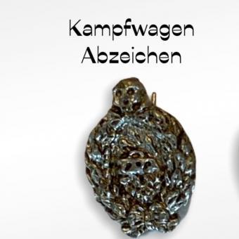 Kampfwagen Abzeichen in metal 1/6