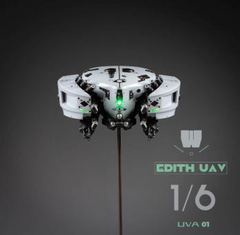 LED Light Up Edith UAV Drone (Grey) 1/6