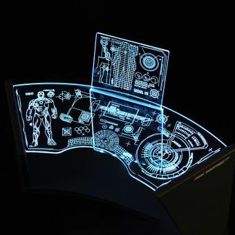 LED Light Up Stark Industries Workshop Test Desk 2.0 (Blue)