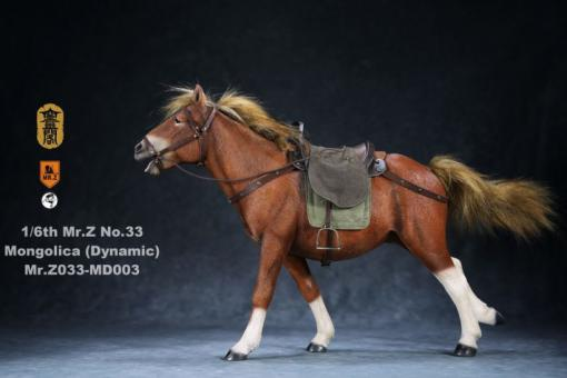 Mongolica Horse (Brown) - in 1/6 scale