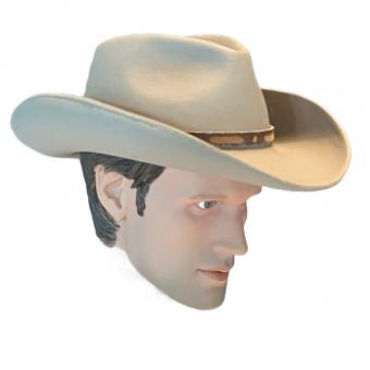 Male Head with stetson hat 1/6