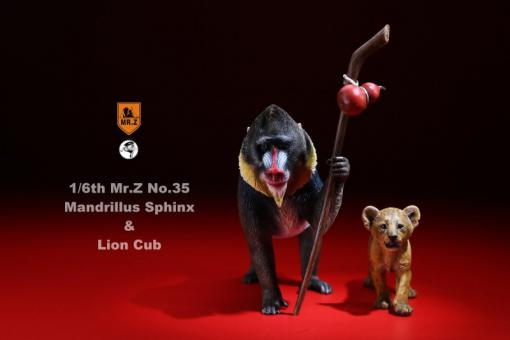 Mandrillus Sphinx & Lion Cub Set - 1/6 scale