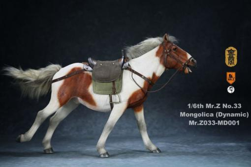 Mongolica Horse (Brown White) - in 1/6 scale