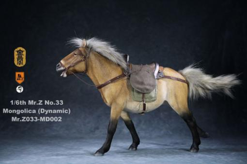 Mongolica Horse (Beige) - in 1/6 scale