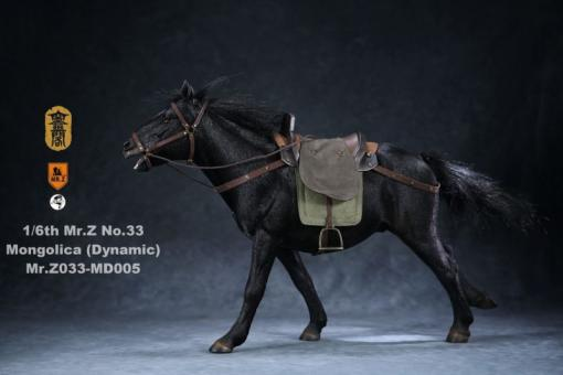 Mongolica Horse (Black) - in 1/6 scale