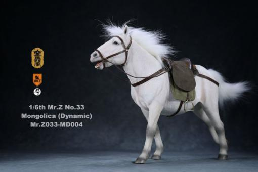 Mongolica Horse (White) - in 1/6 scale