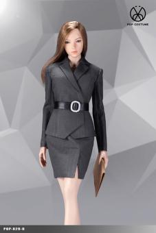 Office Lady Female Suit Set (Grey)