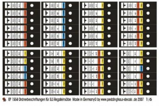 1:6 Ordner Decal German Folder Decal
