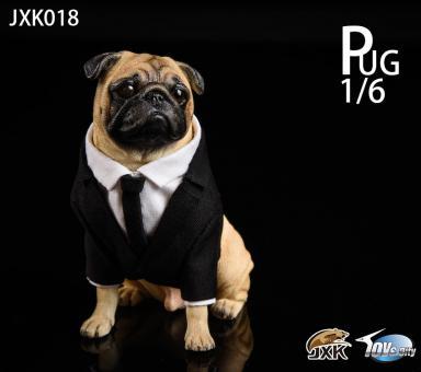 Frank Pug Dog (Black) 1/6
