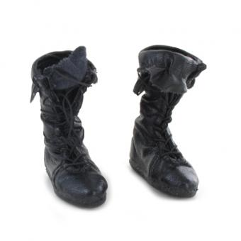 Leather Calcei Boots (Black) 1/6