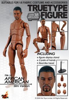 Truetype Figure TTM010 - AFRICAN AMERICAN MALE (SLIM BODY VER.)