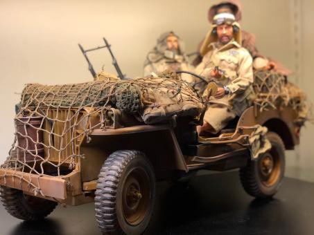 SAS Jeep el allamein 1942 mit Figuren 1/6