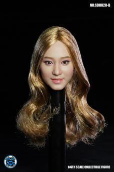 Asian Head Blond Hair im Maßstab 1:6