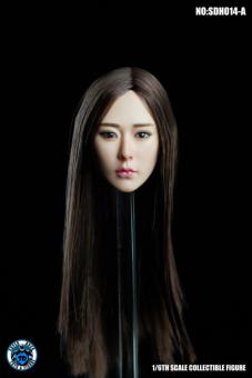 Sexy Asian Head long Hair im Maßstab 1:6