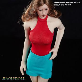 1/6 Sexy Buttock Wrap Suit Set (Red)