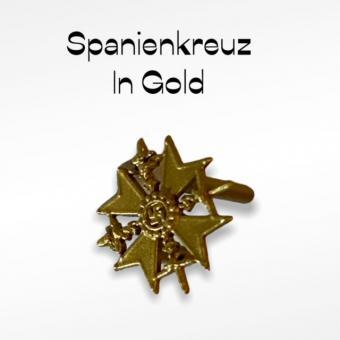 Spanienkreuz in Kunststoff Gold 1/6