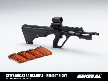 Steyr AUG SA USA Rifle with Red Dot Sight (Black) 1/6