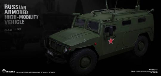 Full Metal RUSSIAN ARMORED HIGH-MOBILITY VEHICLE 1/6