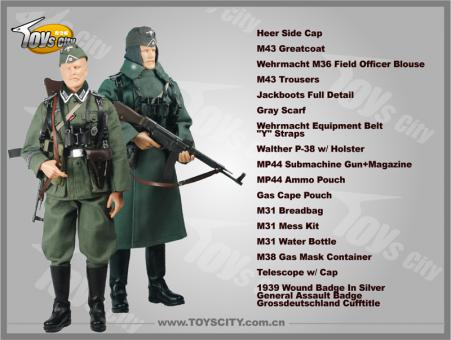 Grossdeutschland Grenadier w/MP44 Accessory Set 1/6