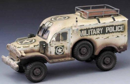 WWII: WC54 Dodge MP Wagon Winter version with 1 driver figure