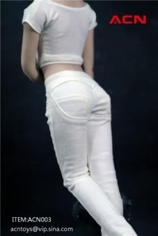 Women's Tight Denim Jeans (White)