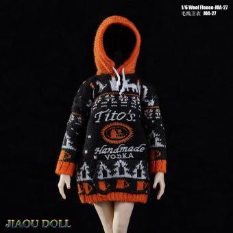 1/6 Wool Fleece Unisex Sweater (Black)