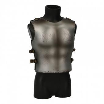 Worn Diecast Knight Body Armor (Grey)1/6