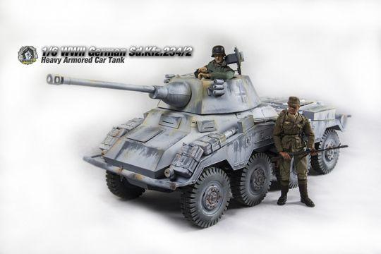 Sd.Kfz.234-2 (Winter) PUMA 1/6 Metal