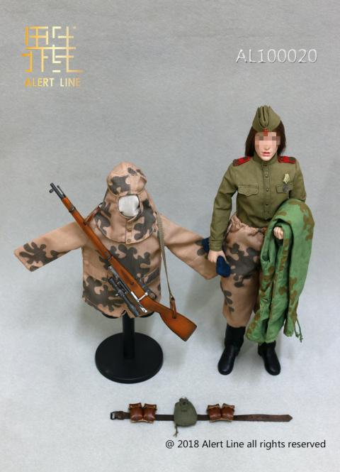 Soviets Female Soldier Sniper Set 1/6