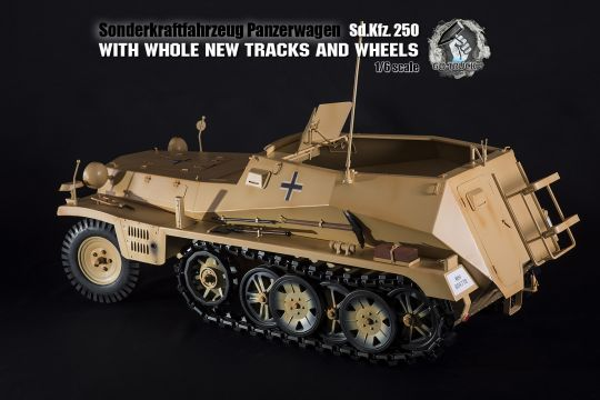 SDKFZ 250 in Metal Sandfarben in 1/6