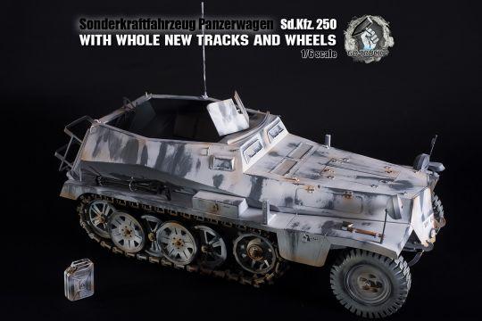 SDKFZ 250 in Wintertarn Grau in 1/6