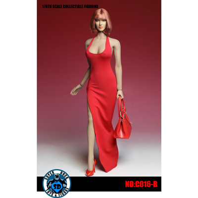 Female Sexy Dress Set (Rot) 1/6