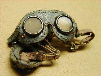 Staubbrille, Kradbrille, grau 1/6 de Luxe