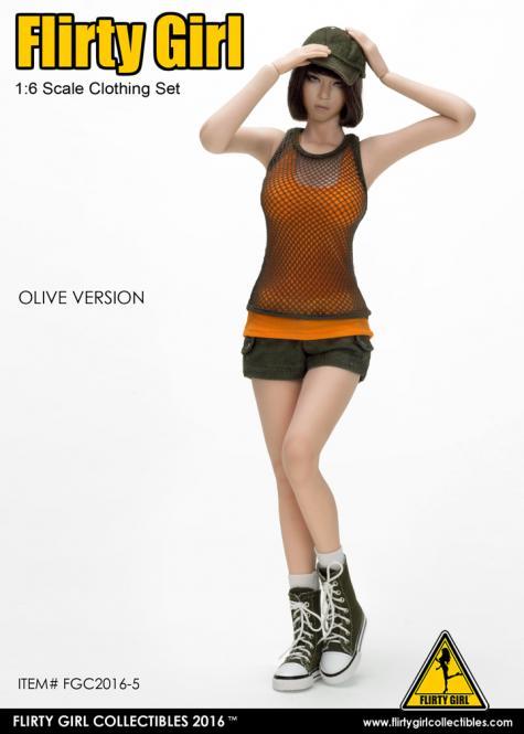 Combat Short Fashion Clothing Set im Maßstab 1:6