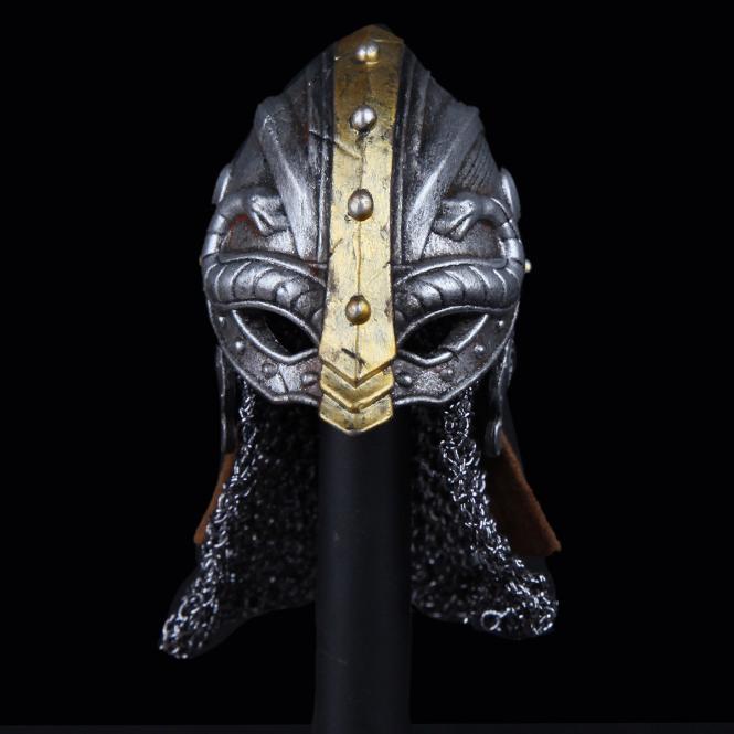 Metal Viking Larp Helm in Metal 1/6
