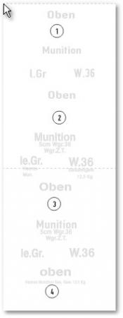 1:6 Decal Beschriftungen Munitionskisten 5 cm Werfermunition