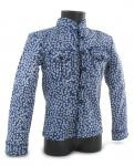 Western blue pattern shirt