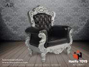 Sessel - schwarz mit Silber