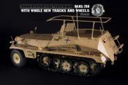 SDKFZ 250 in Metal Sandfarben in 1/6 als Funkwagen